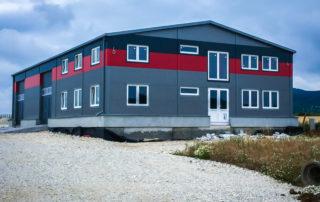 Administratívna budova a príručný sklad – Pohranice, Nitra